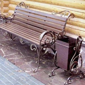 Кованые скамейки Кованая скамейка в стиле «Прованс» Арт. СК-007 Norkovka