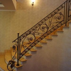 Кованые лестницы Кованая металлическая лестница Аврора Арт. Л-001 Norkovka
