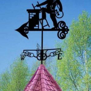 Кованые флюгеры и дымники Кованый флюгер на крышу Арт. Ф-007 Norkovka