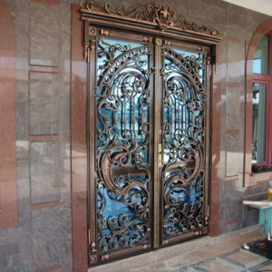 Кованые двери Шикарная кованая дверь Арт. Д-005 Norkovka