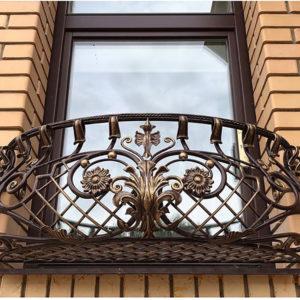 Кованые балконы Оконный кованый балкон Арт. Б-013 Norkovka