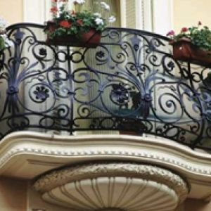 Кованые балконы Эксклюзивный кованый балкон Арт. Б-011 Norkovka