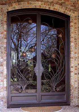 Кованые двери Кованая дверь ручной работы Арт. Д-010 Norkovka